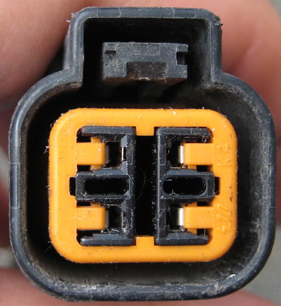 Female side of O2 sensor plug on the sensor wire.